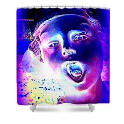 Blue Boy Shower Curtain by Ed Weidman