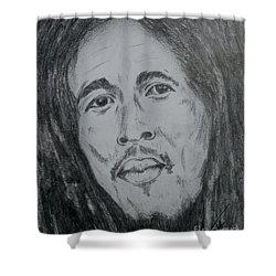 Bob Marley Shower Curtain by Collin A Clarke