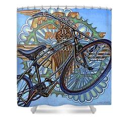 Bsa Parabike Shower Curtain by Mark Howard Jones