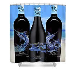Carey Chen Fine Art Wines Shower Curtain by Carey Chen