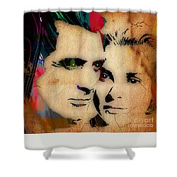 Cary Grant And Grace Kelly Collection Shower Curtain by Marvin Blaine