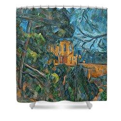 Chateau Noir Shower Curtain by Paul Cezanne