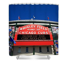 Chicago Cubs - Wrigley Field Shower Curtain by Frank Romeo