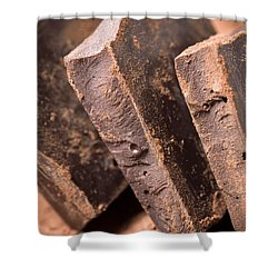 Chocolate Shower Curtain by Frank Tschakert