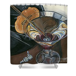 Chocolate Martini Shower Curtain by Debbie DeWitt