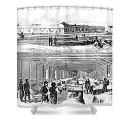 Civil War Hospital Shower Curtain by Granger