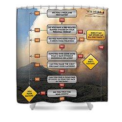 Shower Curtain featuring the photograph Diagnosing Wildland Firefighter Disease by Bill Gabbert