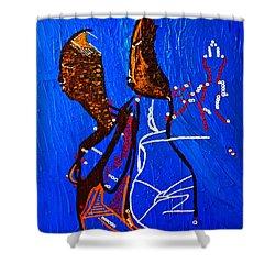 Dinka Embrace - South Sudan Shower Curtain by Gloria Ssali