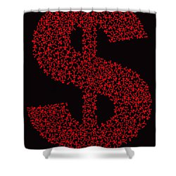 Dollar People Icon Shower Curtain by Thisisnotme