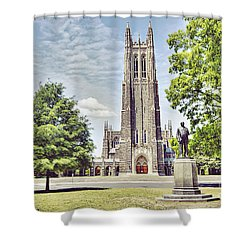 Duke Chapel In Spring Shower Curtain by Emily Kay