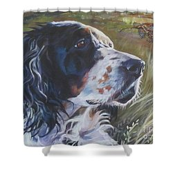 English Setter Shower Curtain by Lee Ann Shepard