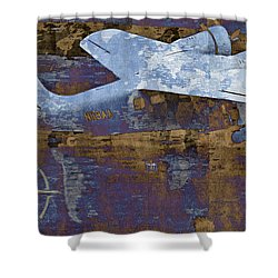 Flight Shower Curtain by Molly McPherson