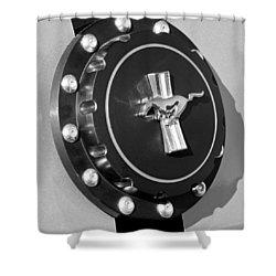 Ford Mustang Emblem Shower Curtain by Jill Reger
