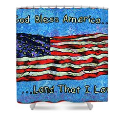 God Bless America  Shower Curtain by Barbara Snyder