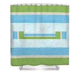 Half Full Shower Curtain by Michelle Calkins