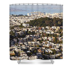 Homes Of San Francisco Shower Curtain by B Christopher