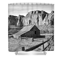 Horse Barn In Fruita Utah Shower Curtain by Jack Schultz