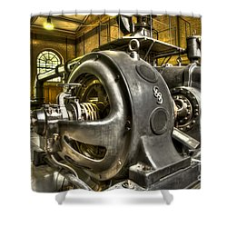 In The Ship-lift Engine Room Shower Curtain by Heiko Koehrer-Wagner