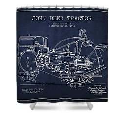 John Deer Tractor Patent Drawing From 1933 Shower Curtain by Aged Pixel