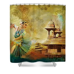 Kathak Dancer Shower Curtain by Catf