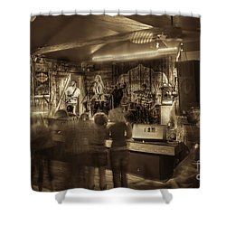 Keri Leigh Singing At Schmitt's Saloon Shower Curtain by Dan Friend