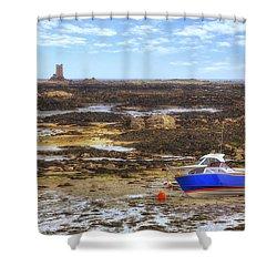 La Rocque - Jersey Shower Curtain by Joana Kruse