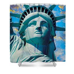Lady Liberty Shower Curtain by Jon Neidert
