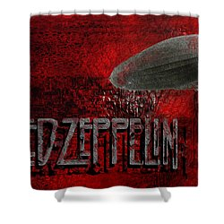 Led Zeppelin Shower Curtain by Jack Zulli