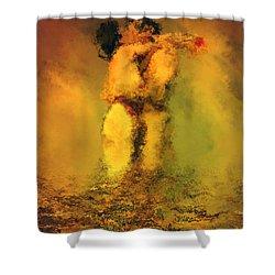 Lovers Shower Curtain by Kurt Van Wagner