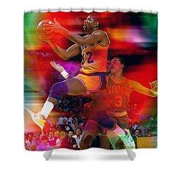 Magic Johnson Shower Curtain by Marvin Blaine