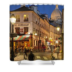 Montmartre Twilight Shower Curtain by Brian Jannsen