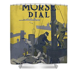 Morse Dry Dock Dial Shower Curtain by Edward Hopper