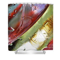 Oil And Water 27 Shower Curtain by Sarah Loft
