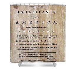 Paine: Common Sense, 1776 Shower Curtain by Granger