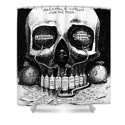 Patent Medicine Cartoon Shower Curtain by Granger