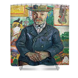 Pere Tanguy Shower Curtain by Vincent van Gogh