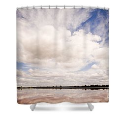 Pink Lake Shower Curtain by Tim Hester