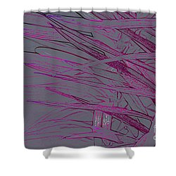 pink Leaves Shower Curtain by Carol Lynch