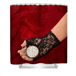 Pocket Watch Shower Curtain by Amanda Elwell