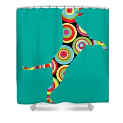 Pointer Shower Curtain by Mark Ashkenazi