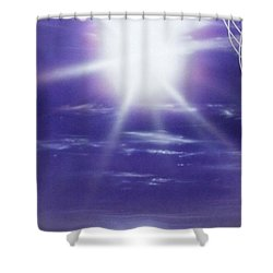 'purple Aura' Shower Curtain by Christian Chapman Art