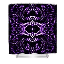Purple Series 3 Shower Curtain by J D Owen