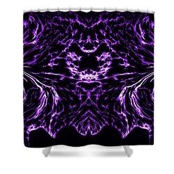 Purple Series 8 Shower Curtain by J D Owen