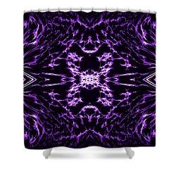 Purple Series 9 Shower Curtain by J D Owen