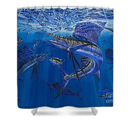 Rendezvous  Shower Curtain by Carey Chen