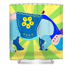 Rhino Shower Curtain by Mark Ashkenazi