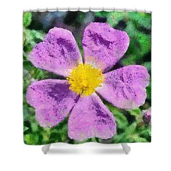Rockrose Wild Flower Shower Curtain by George Atsametakis