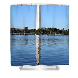 Roosevelt Looking At Washington Shower Curtain by Cora Wandel