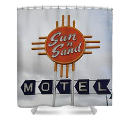 Route 66 - Santa Rosa New Mexico Shower Curtain by Frank Romeo