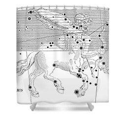 Sagittarius Constellation Zodiac Sign Shower Curtain by Science Source
